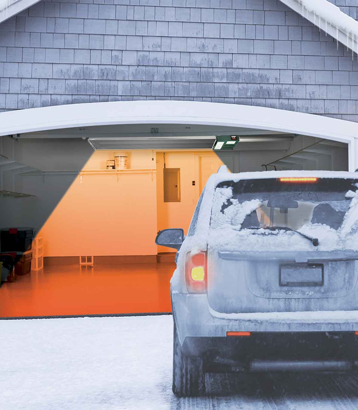 The leading-edge garage heater